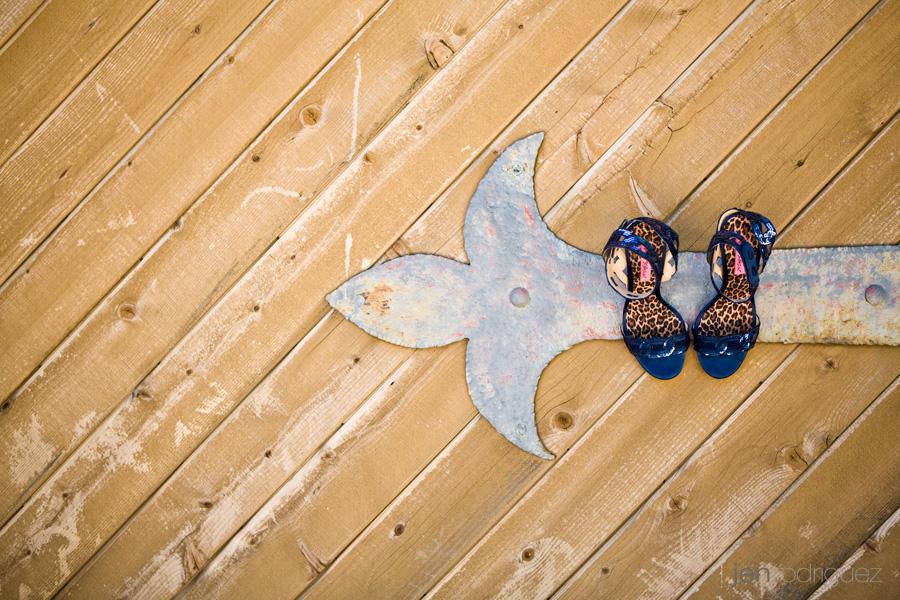 Betsy Johnson bridal shoes hanging on door at Zenaida Cellars, Zenaida Cellars wedding