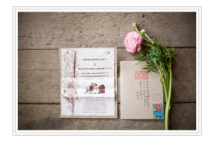 San Ynez wedding: custom invitations