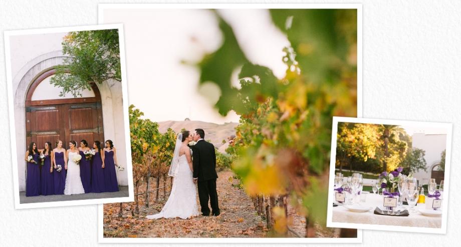 Wente winery wedding