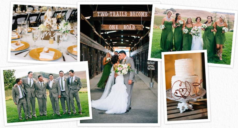 Wedding details and decor from a Greengate Ranch wedding