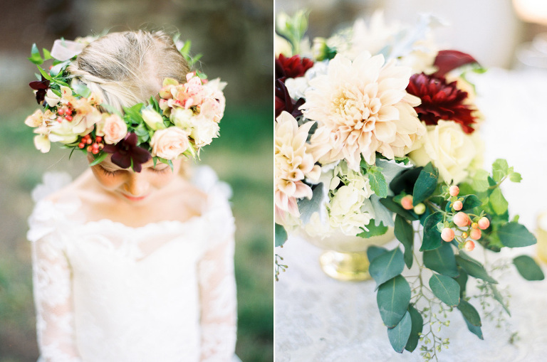 The perfect autumn wedding colors and flowers