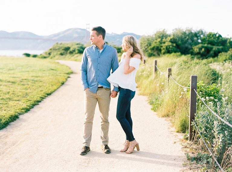 Cheerful San Francisco engagement session by film photographer Jen Rodriguez