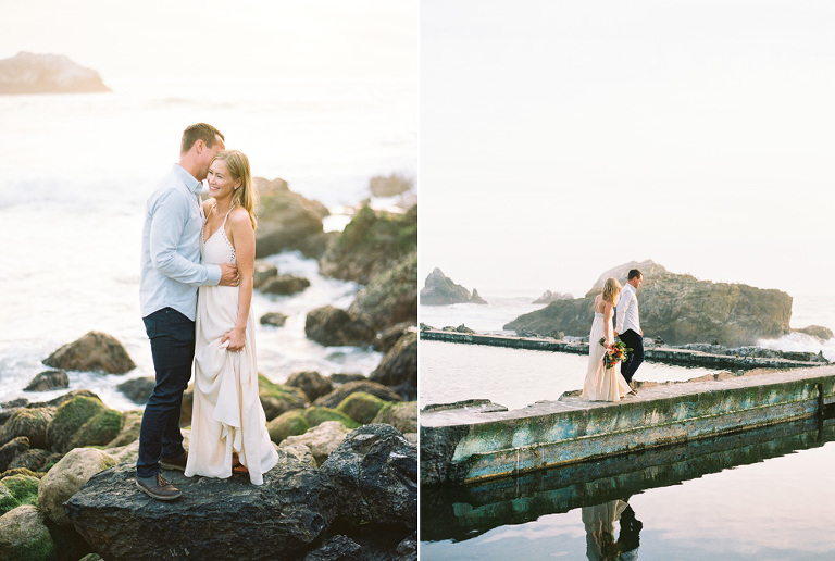 film San Francisco engagement session at Sutro Baths