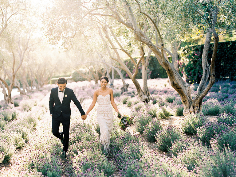 Black tie garden wedding at San Ysidro Ranch with Joy Proctor Design