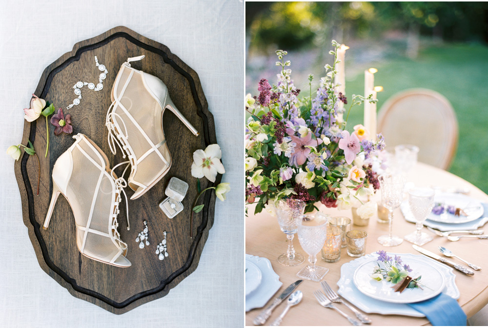 Personal wedding day details styled by Joy Proctor Design a luxury Montecito wedding venue